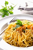 Capellini with lemon, parmesan and chilli