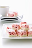 Raspberry and coconut sweets