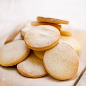 Sugared shortbread biscuits