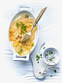 Potatoes with cheese and cream