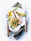 Turkey breast with a fruity leek medley