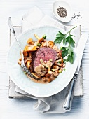 Fillet of beef with a chanterelle sauce
