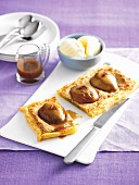 Frangipane tart with pears and hazelnuts