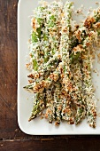 Baked Parmesan Crusted Asparagus Spears