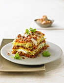 Lasagne with mince and basil