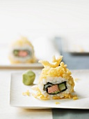 Crispy inside-out roll