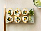 Baked maki sushi