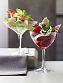 Rote-Bete-Salat mit Räucherforelle, Hummersalat