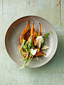 Roasted squash with rocket and parmesan
