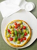Cherry tomato tart with basil