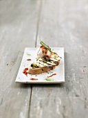 Crostini with mozzarella and capers
