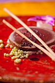 Marinated tuna with black salt - Fusion cuisine