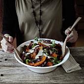 Squash salad with parmesan