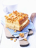 Bee sting cake with pine nuts