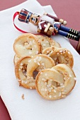 Cream pretzels with brittle for Christmas