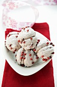 Chocolate coconut cookies with pink pepper