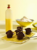 Advocaat muffins with chocolate icing