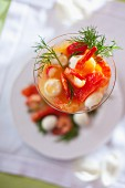 Prawn cocktail with fennel tops