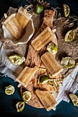 Homemade Honey Lime and Lemongrass Popsicles