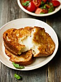 Cheese slices: slices of bread with mozzarella filling