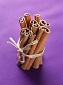 Cinnamon sticks, tied together