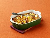Cornbread Stuffing in a Baking Dish