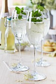 Hugo (Prosecco with mint and elderflower syrup)