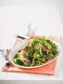 Beef salad with broccoli and cellophane noodles (Asia)