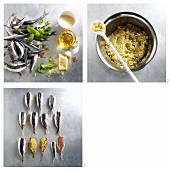 Sardinen mit Kräuterfüllung zubereiten