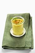 Fennel soufflé in a jar