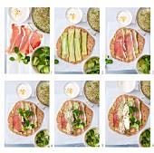 Step: Tortilla Wraps mit Parma Schinken, Gurke, Feldsalat, Sprossen und Joghurt-Dressing
