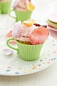A rose cupcake