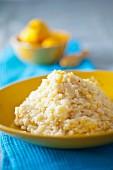 Lemon risotto with saffron