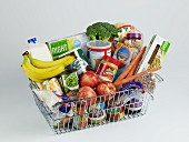 Grocery Basket Full of Food