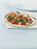Spinach and Ricotta Lasagna Rolls