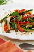 Courgette and pepper salad