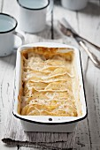 Camembert Potato Gratin in Baking Pan