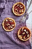 Three Individual Plum and Almond Tarts