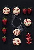 Frischkäse-Muffins mit Erdbeeren