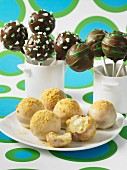 Assorted cake pops (cheesecake, chocolate with peppermint sweets)