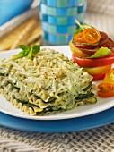 Summery courgette lasagne