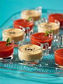 Coconut soup and watermelon soup from Thailand