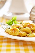 Gnocchi with basil and parmesan