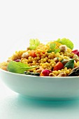 Couscous salad with chickpeas and vegetables