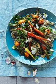 Quinoa with almonds and roasted carrots