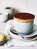Chocolate and date souffle
