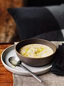 Parsnip soup with artichokes