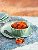 Apricot chutney with raisins