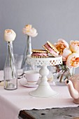 Strawberry ice cream cakes