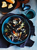 Mussels in a cider and cream sauce